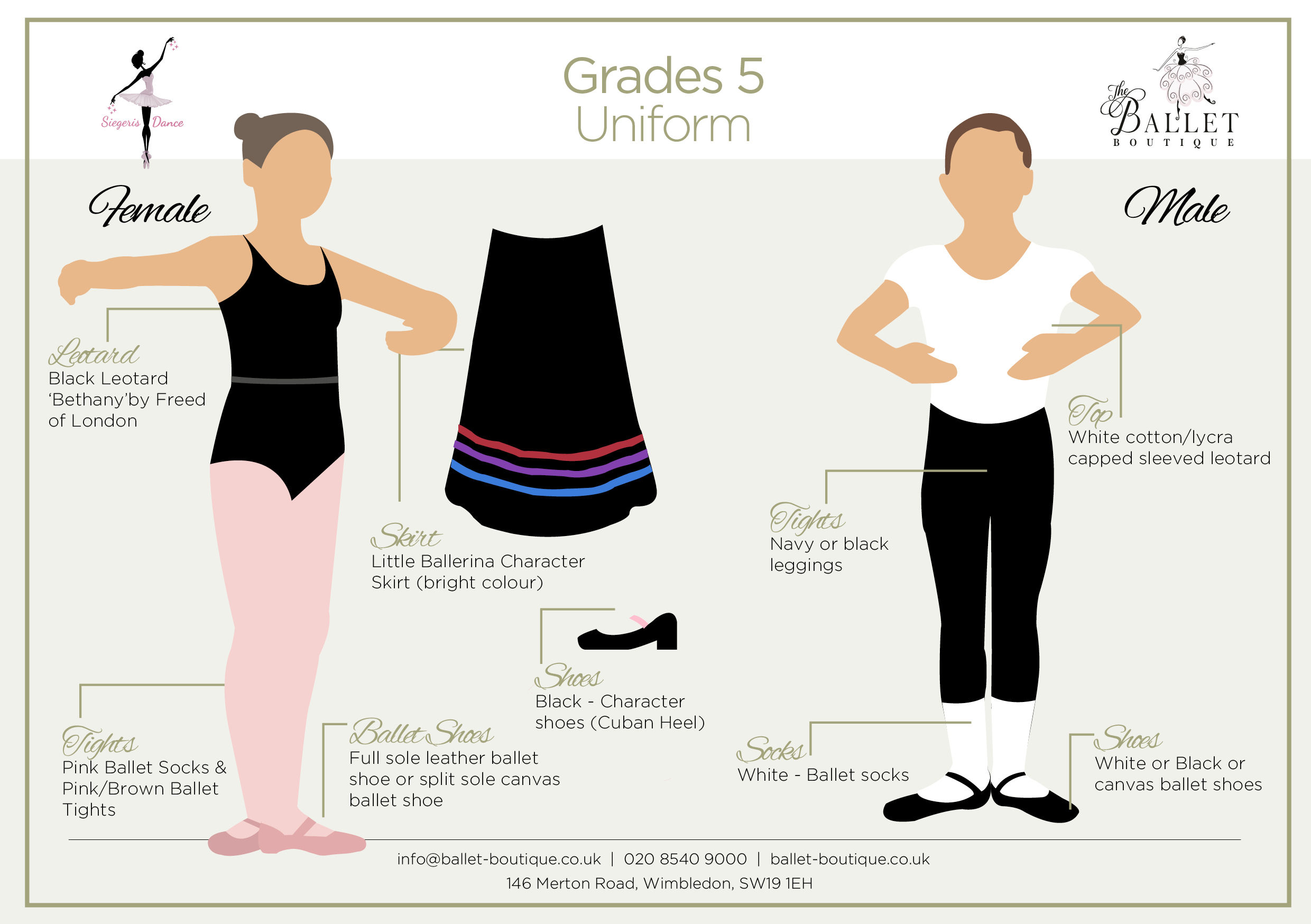 Grade 5 Ballet Uniform Card